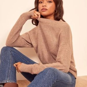 REFORMATION ELLE SWEATER IN TOFFEE NWT